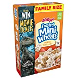 Kellogg's Breakfast Cereal, Frosted Mini-Wheats, Original, Low Fat, Excellent Source of Fiber, Family Size, 24 oz Box (Tamaño: 24 Ounce)
