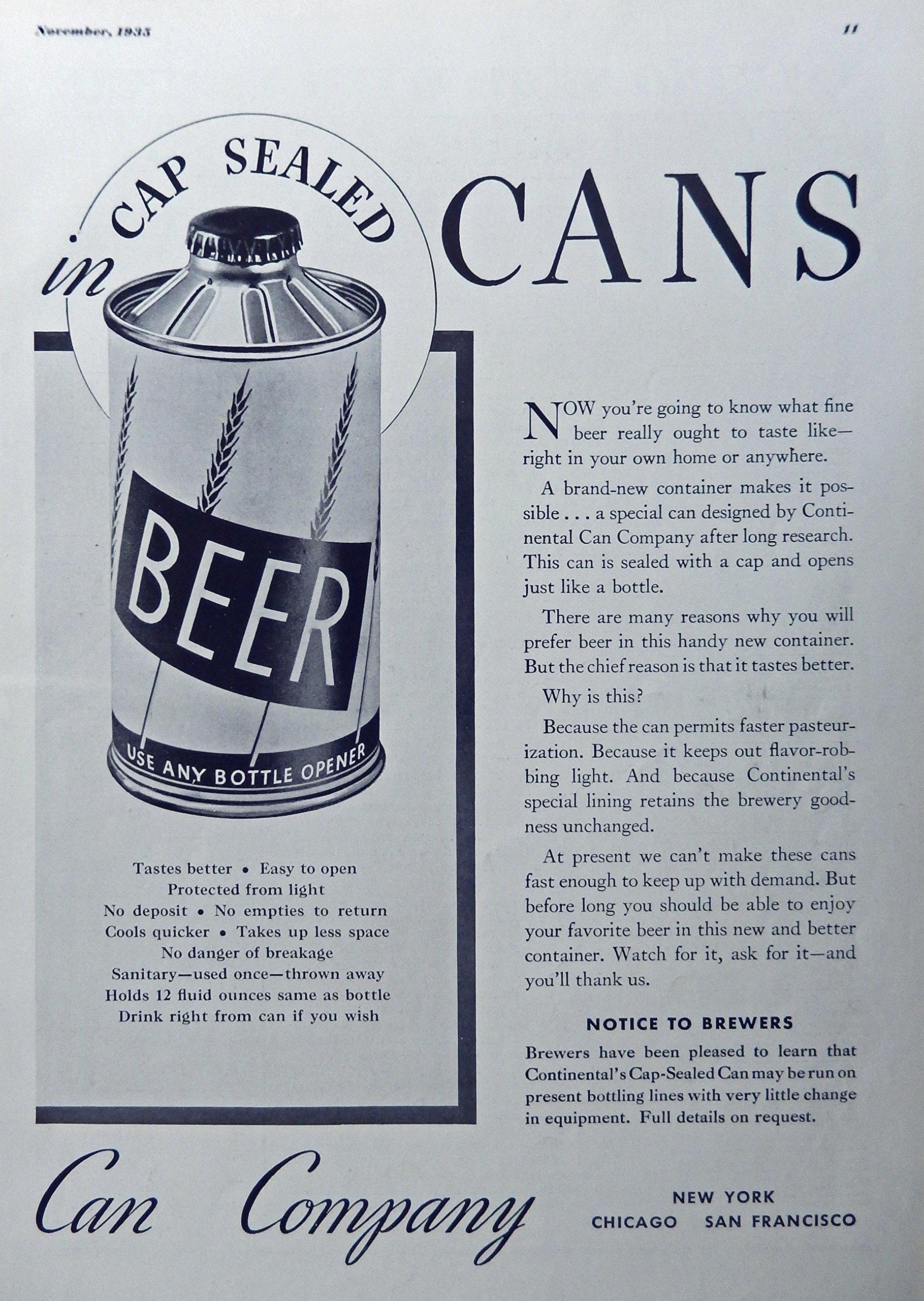 Vintage Beer Can Ads