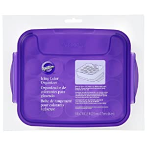 Wilton Icing Color Organizer Case - Cake Decorating Supplies (Color: White/Purple)