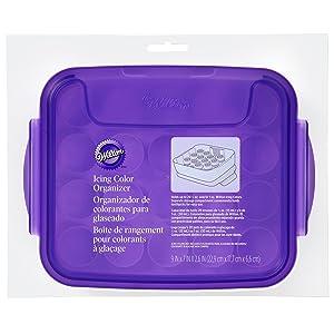 Wilton Icing Color Organizer Case - Cake Decorating Supplies (Color: White/Purple)