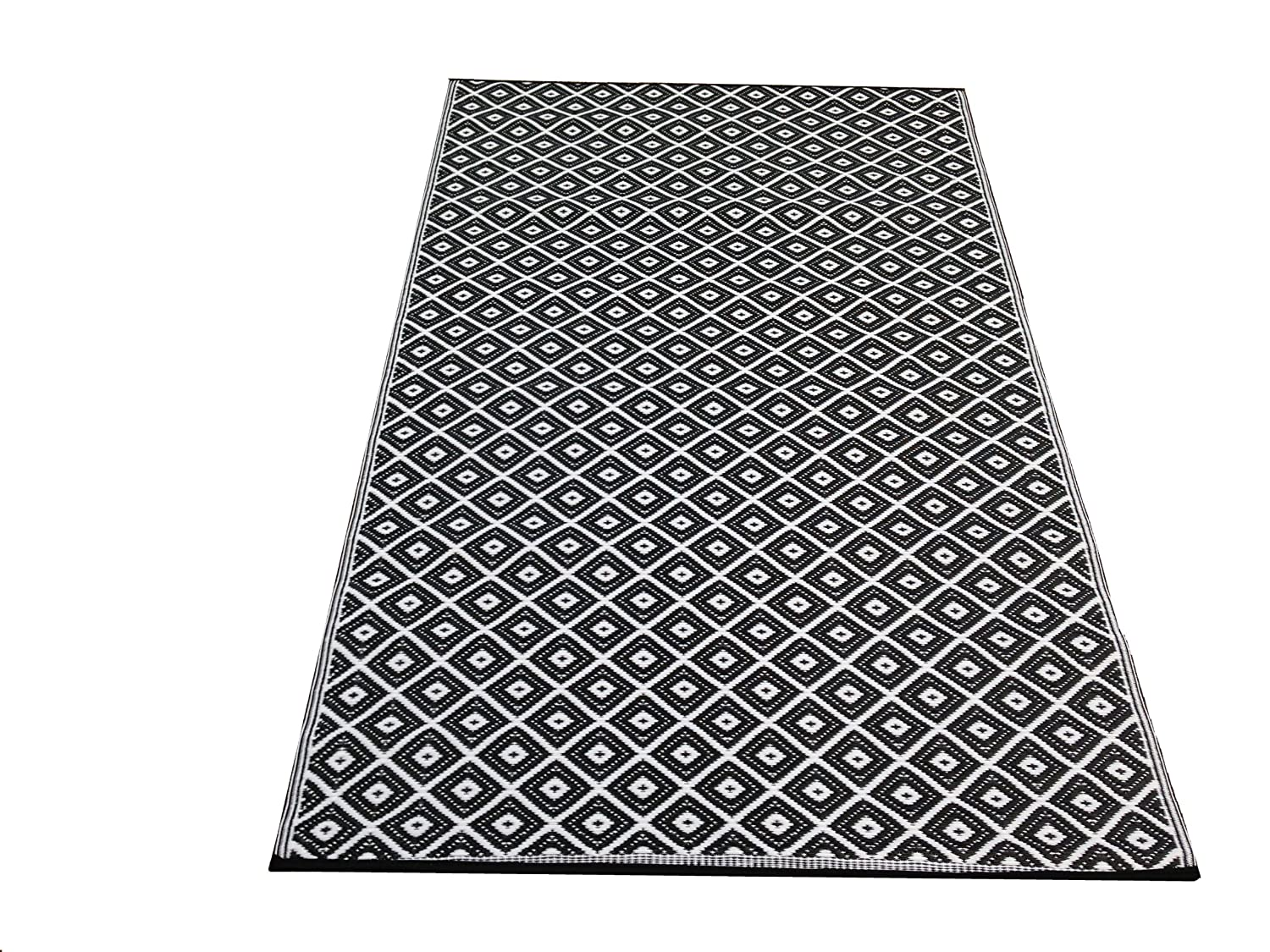 New Large Quality Arabian Outdoor Black And White Plastic Rug 5x8ft EBay