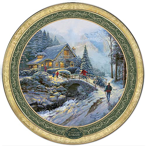 The 2015 Edition of Thomas Kinkades Cherished Christmas Memories Annual Plate Collection: Bringing Home The Tree The Bradford Exchange