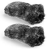 Neewer 2 Pieces Outdoor Microphone Furry Windscreen Muff for MIC-01 MIC108 MIC-121 Stereo Microphone, TAKSTAR SGC-598, NW-598, SHENGGU SG209 SG108 & Similar Mics (NW-MIC-121)