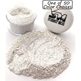 Silver Pearl Mica Flake, Metallic Silver Pigment Flake for Resin Making, Mica Flakes, Biodegradable Glitter, Pearl Cosmetic Grade Mica Chunk, All Natural Glitter, Stardust Micas (Color: Silver Pearl Sparkle, Tamaño: 10 Gram Jar)