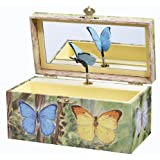 Enchantmints Butterfly Music Jewelry Box (Color: Green)