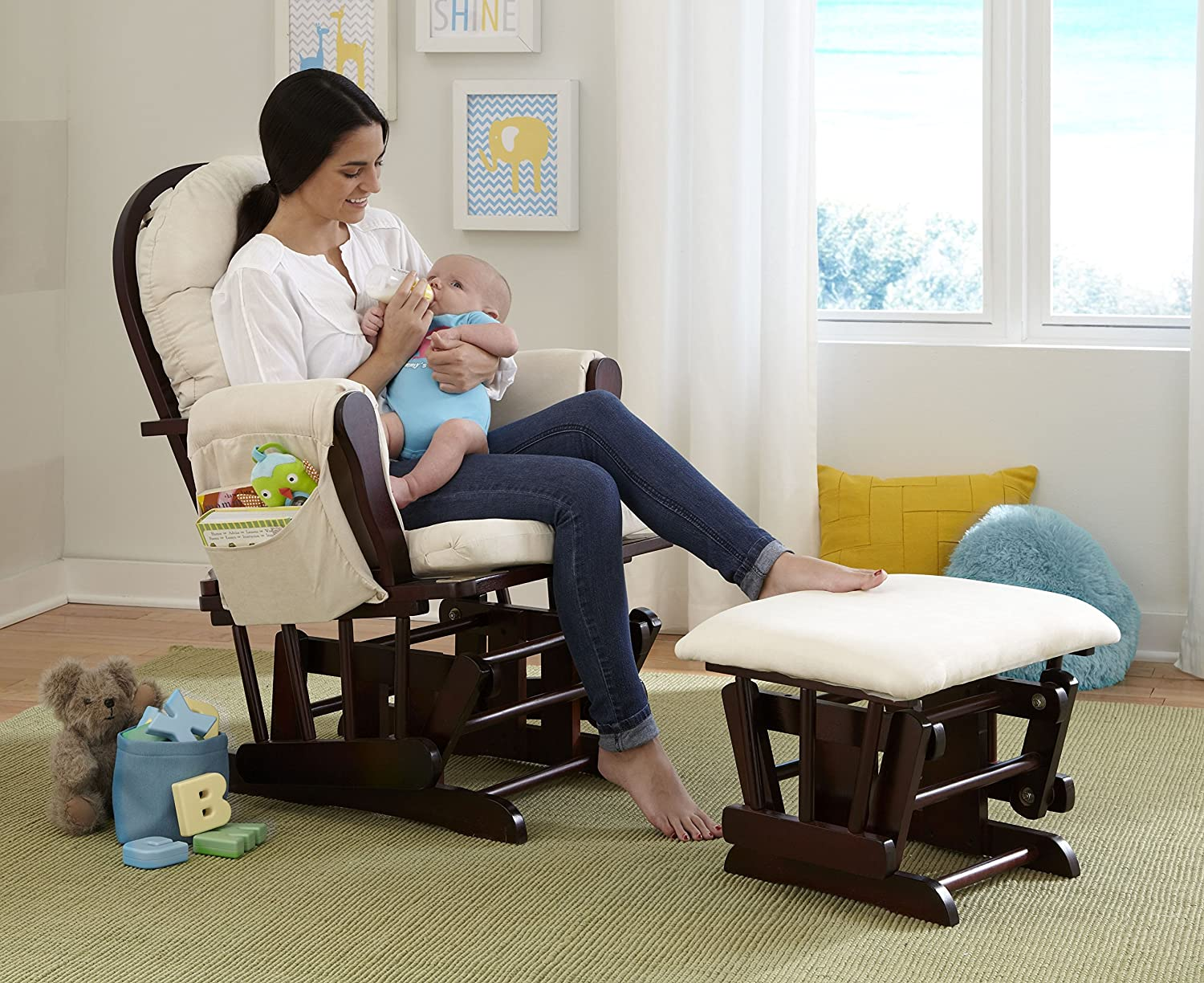 Stork Craft Hoop Glider and Ottoman Set & Best Nursery Glider 2017: 5 Features You Need to Look For! - Kind Mommy