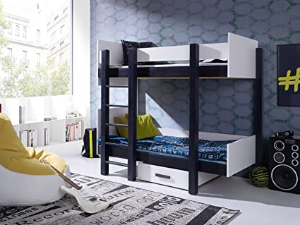 Bunk Bed AMIRA , Bunk Bed with Mattresses for 2 children, Wooden Twin Bunk Bed (UK Single 3ft) NEW COLLECTION 2017/2018