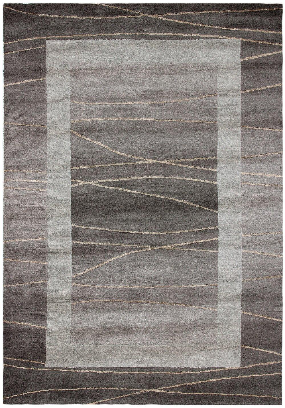 """Sona-Lux Nepal Teppich handgeknüpft hellbraun """"Größe auswählen"""" 200 x 300 cm"""
