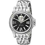 Bulova Men's 63A103 Kirkwood Analog Display Swiss Automatic Silver Watch (Color: Silver-Tone/Black, Tamaño: Standard)