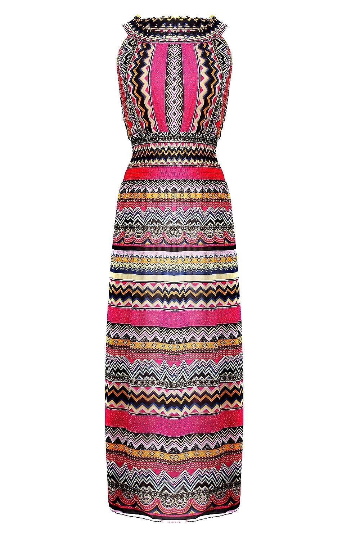 G2 Chic Women's Bohemian Summer Maxi Dress