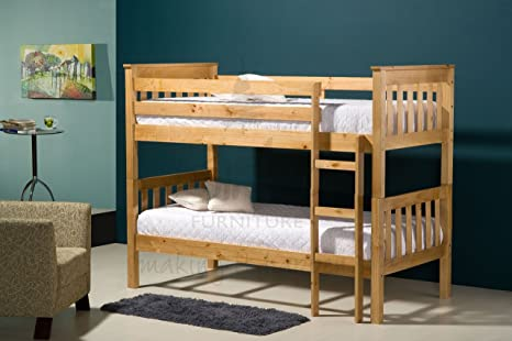 3FT SINGLE IVORY OR NATURAL PINE FINISHED PINE SEATTLE BUNK BEDS FROM CENTURION PINE (NATURAL PINE)