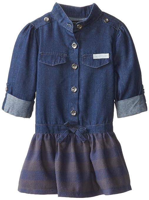 Calvin-Klein-Little-Girls-Denim-Woven-Dress
