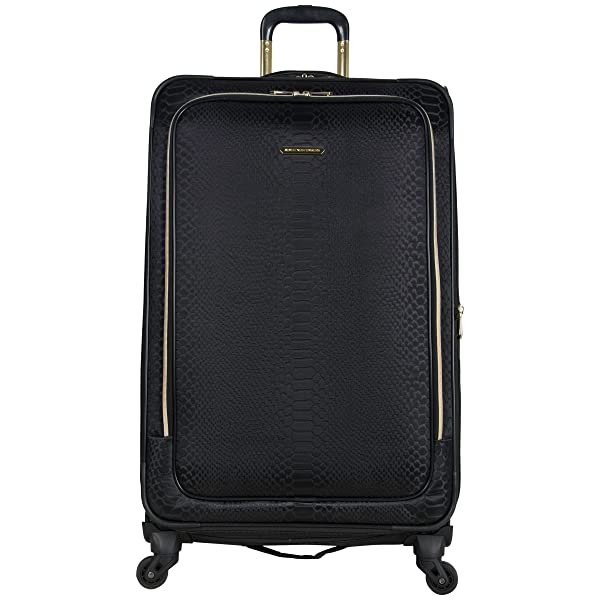 Aimee Kestenberg Womens Parker 20 Jacquard Polyester Expandable 4-Wheel Spinner Carry-on Luggage Black