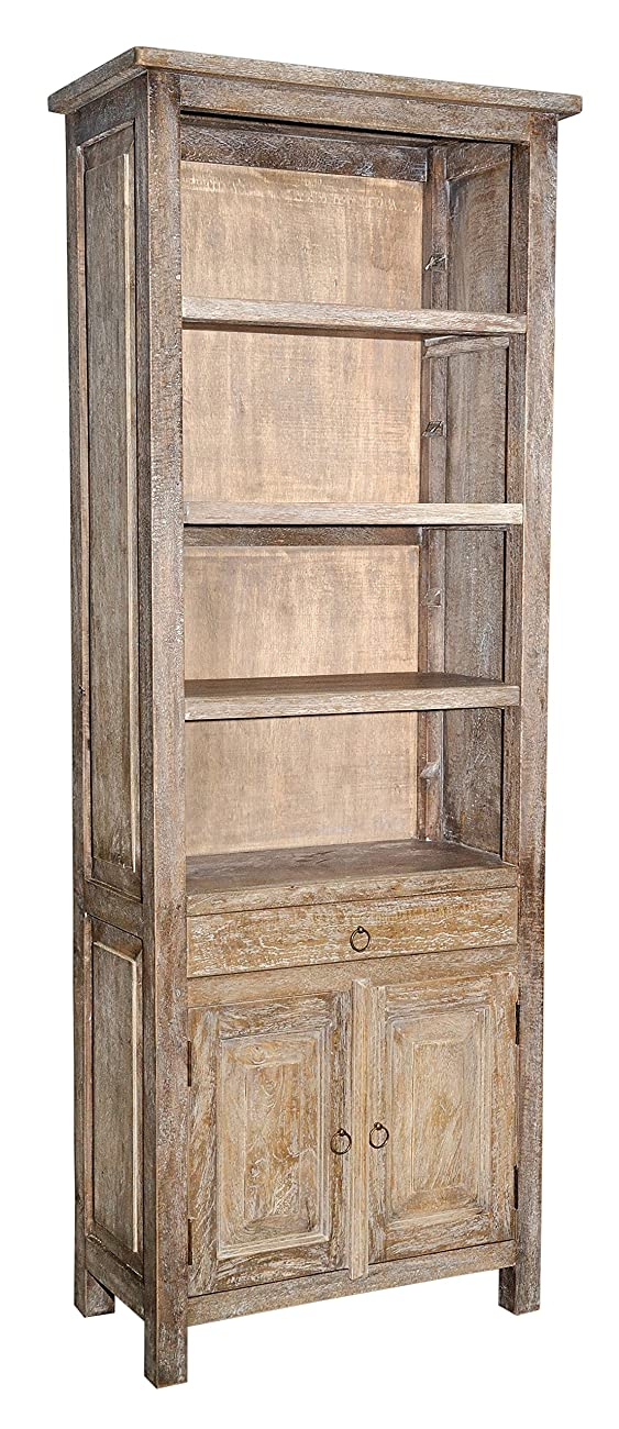 Casual Elements Santa Fe Bookcase, Rustic Mango Gray Wash 0
