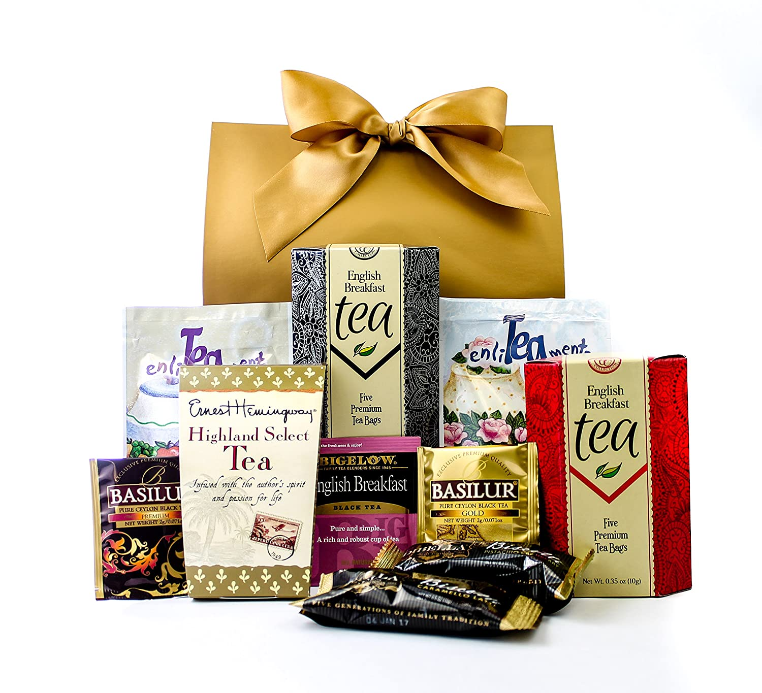 Gourmet Tea Lovers Gift Purse With Bow for Mothers Day