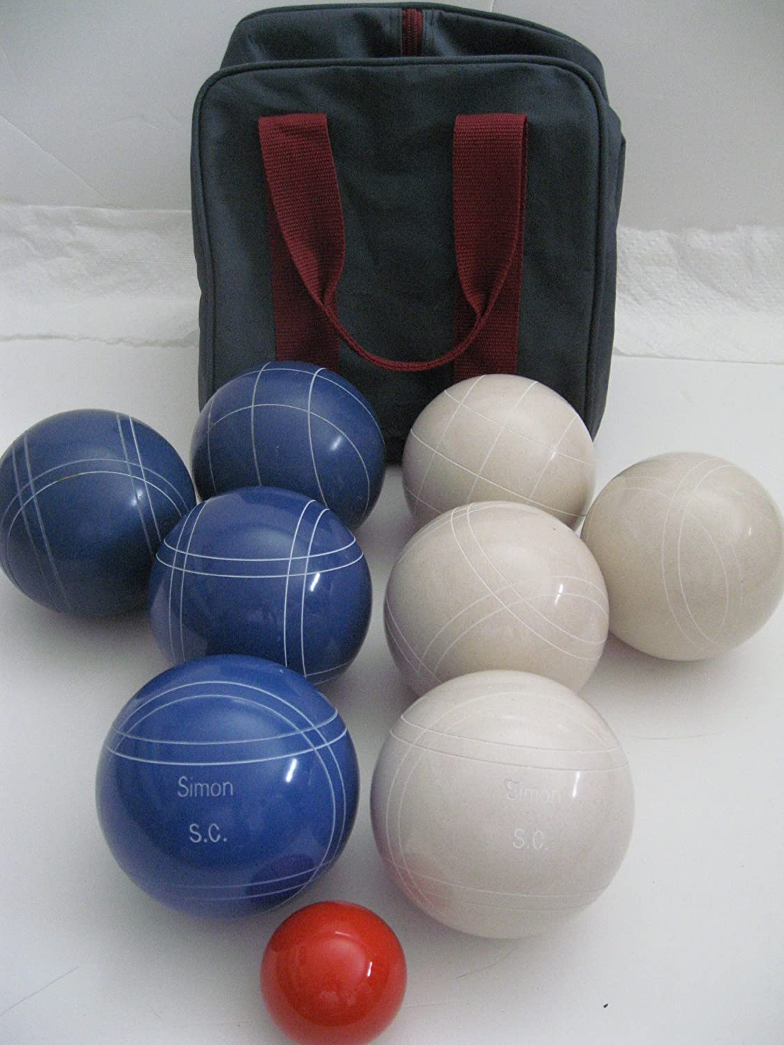Premium Quality Engraved EPCO Bocce package – 107mm EPCO White and Blue balls… bestellen