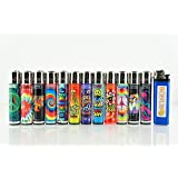 12 New Refillable Original Clipper Lighters Mixed Designs FREE U.S. SHIPPING by Clipper