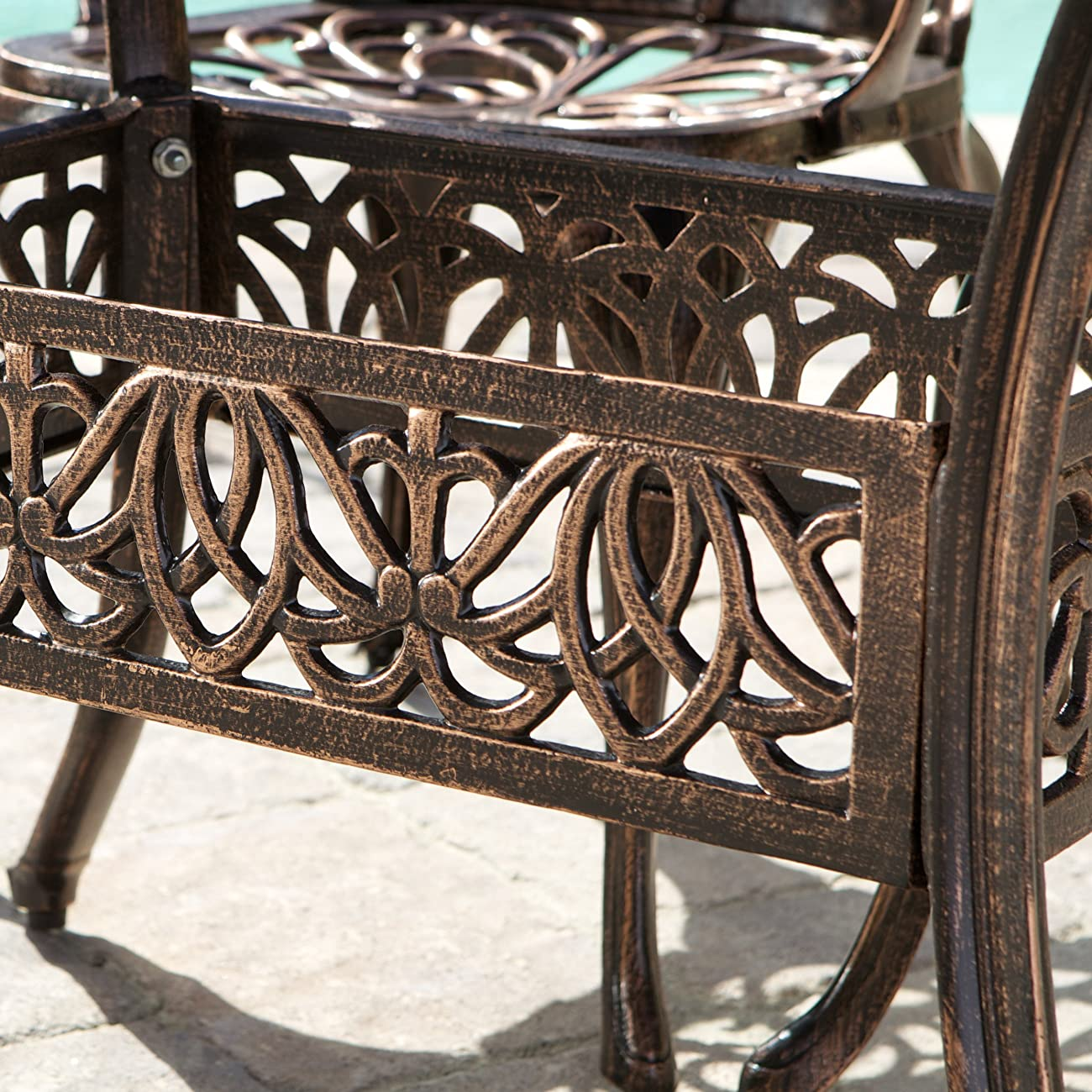 Gardena Cast Aluminum Outdoor Dining Set (Set of 7) 5