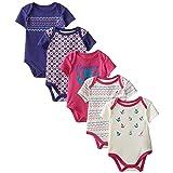 Nautica Baby-Girls Newborn 5 Pack Fairisle Bodysuits, Assorted, 3-6 Months (Color: Fairisle, Tamaño: 3-6 Months)