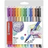 Stabilo Pointmax Nylon Tip Pen, Multicolored (Color: Multicolored, Tamaño: Pack of 12)