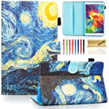 Galaxy Tab S 8.4 Case, Dteck Slim Fit Folio Stand PU Leather Wallet Case with Stylus Slot Cover for 2014 Samsung Galaxy Tab S 8.4 inch Tablet (SM-T700/SM-T705), Starry Night (Color: A_Starry Night)