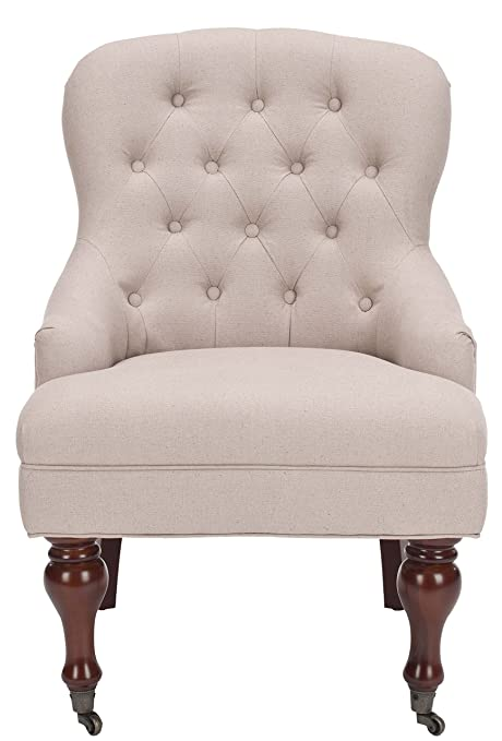 Safavieh Mason Arm Chair, Wood, Ecru