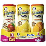 Gerber Graduates Puffs - Variety Pack - 1.48 oz - 3 pk (Tamaño: Variety Pack (3 Canisters))