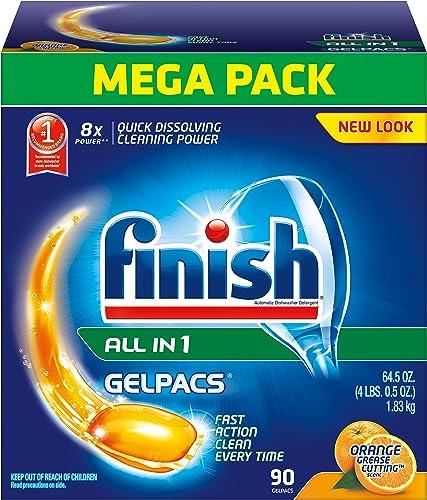 Finish 90-ct Gelpacs Dishwasher Detergent