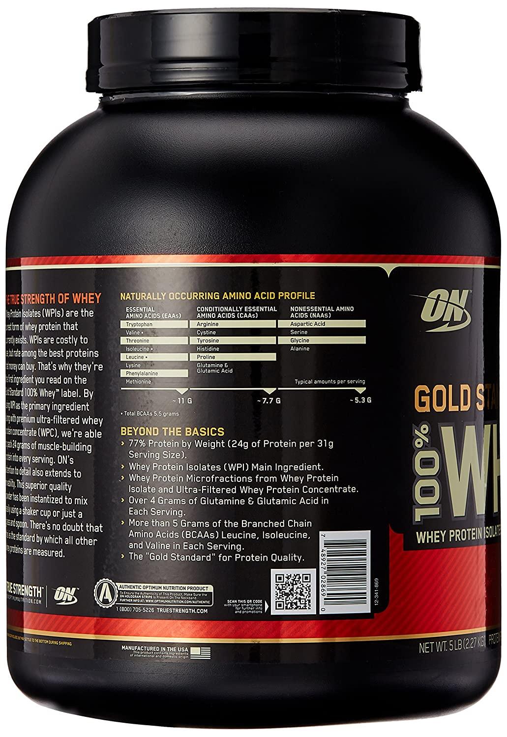 ON Whey Gold Standard - 5 lb Delicious Strawberry