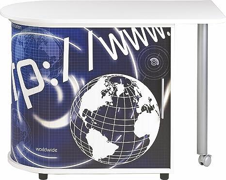Simmob cool100bl800Http 800Wood Swivel Computer Desk 74,7x 55x 105cm White