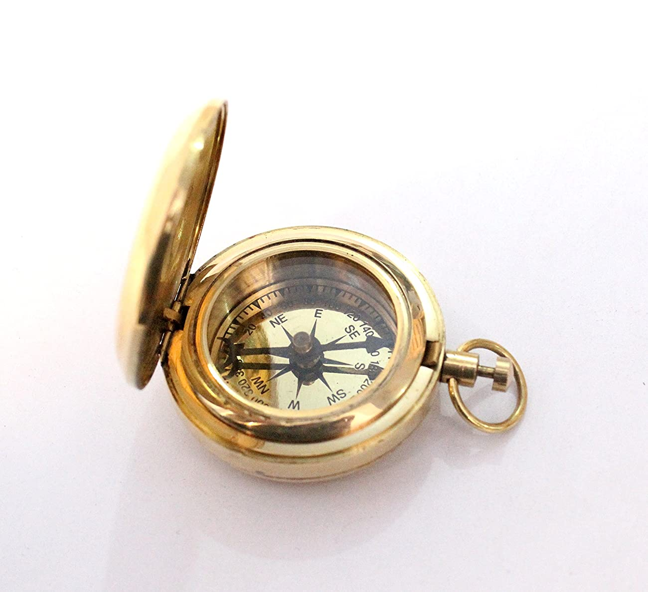 Nautical Collectible Retro Style Compass Decorative Gift Item Brass Finish Compass 1
