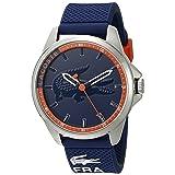 Lacoste Men's 2010842 Capbreton Analog Display Japanese Quartz Blue Watch (Color: Blue/Blue)