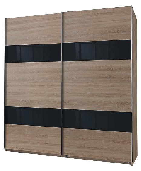 Wimex 037771 Schwebeturenschrank Front und Korpus Eiche Sägerau Nachbildung, 180 x 198 x 64 cm, grey