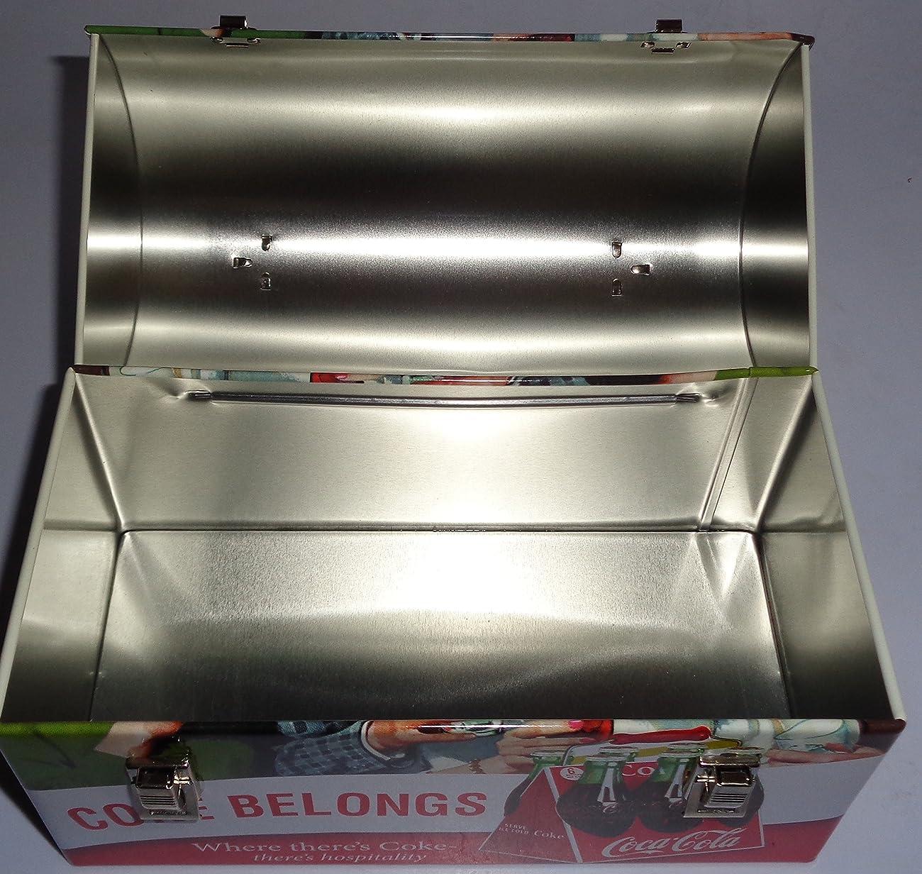 Coca Cola Retro Dome Shapped Tin Lunch Box 3