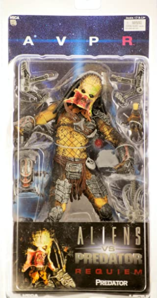 Alien vs Predator 2 AVP Requiem serié 3 Unmasked Open Mouth Predator 18cm figurine