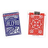 Tally-Ho Fan Back Design Playing Cards 12 Decks (6 Red, 6 Blue)