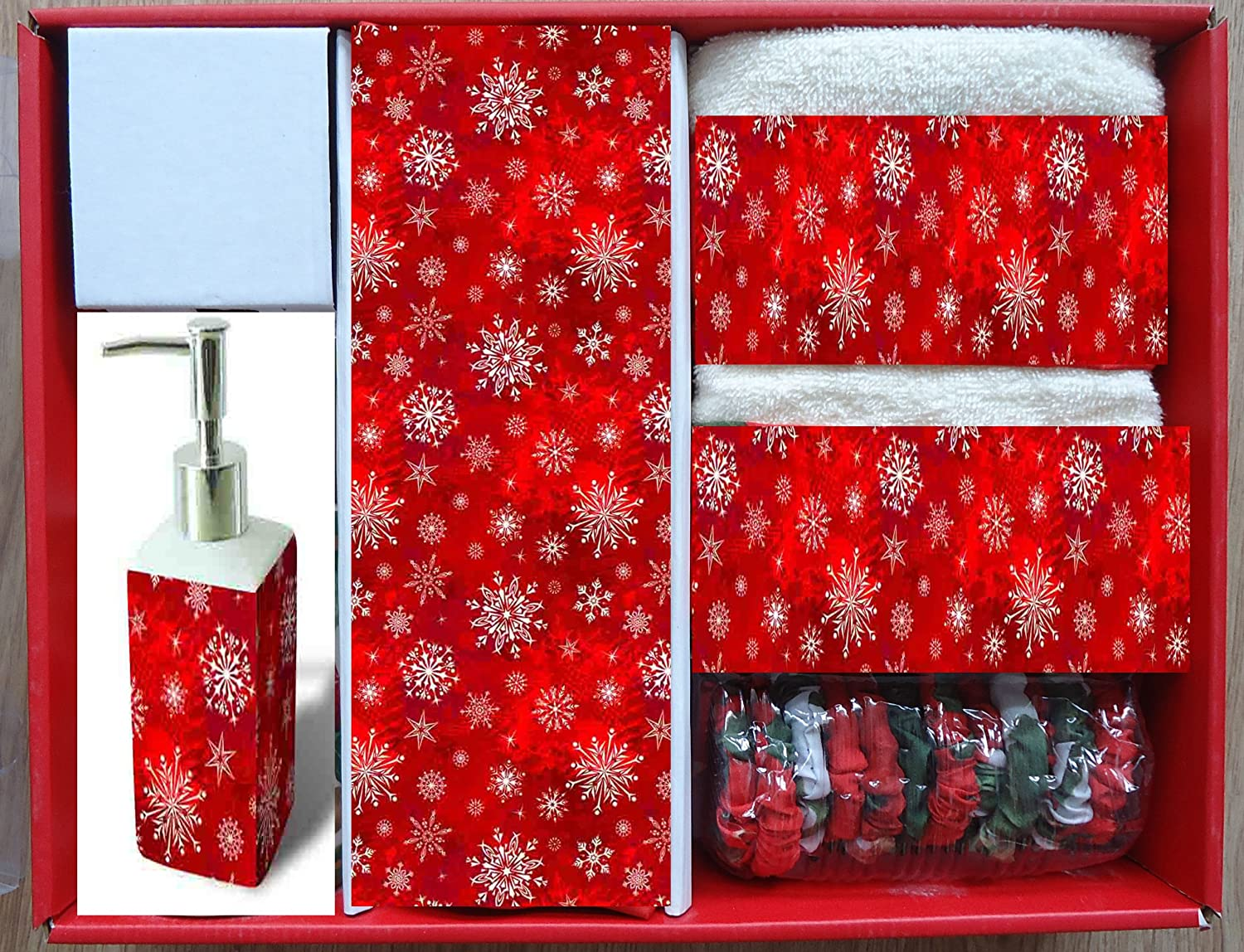 Holiday Snow Bath Set