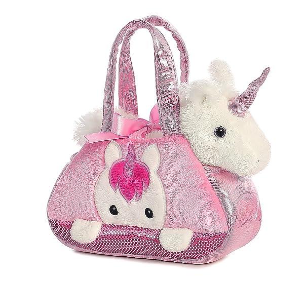 Aurora World Fancy Pals Pet Carrier, Peek-A-Boo Unicorn (Color: Multi, Tamaño: 7 inches)