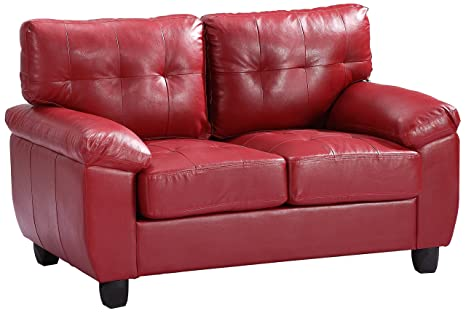 Glory Furniture G909A-L Living Room Love Seat, Red
