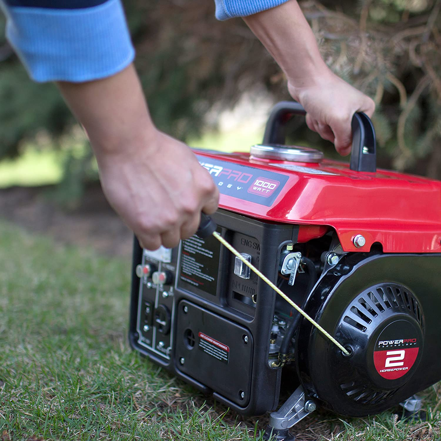 Never place the portable generator indoors when you are using it