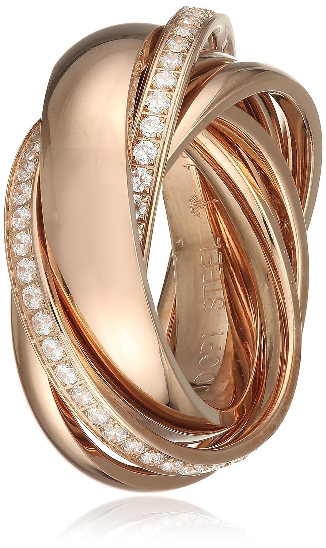 Joop! Damen-Ring Vergoldet Glas weiß – JPRG10631C1 schenken