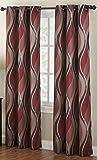 paprika coloured curtains