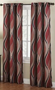 paprika coloured curtains