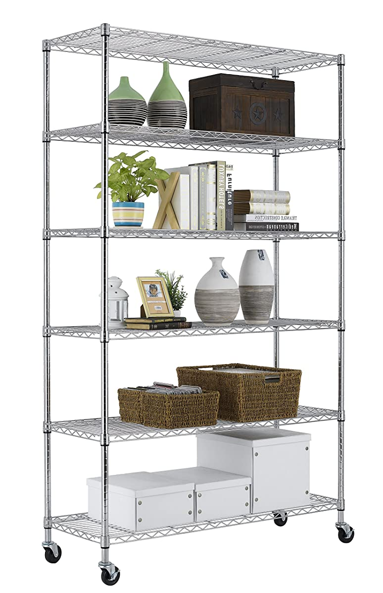 PayLessHere Chrome 6 Shelf Commercial Adjustable Steel shelving ...