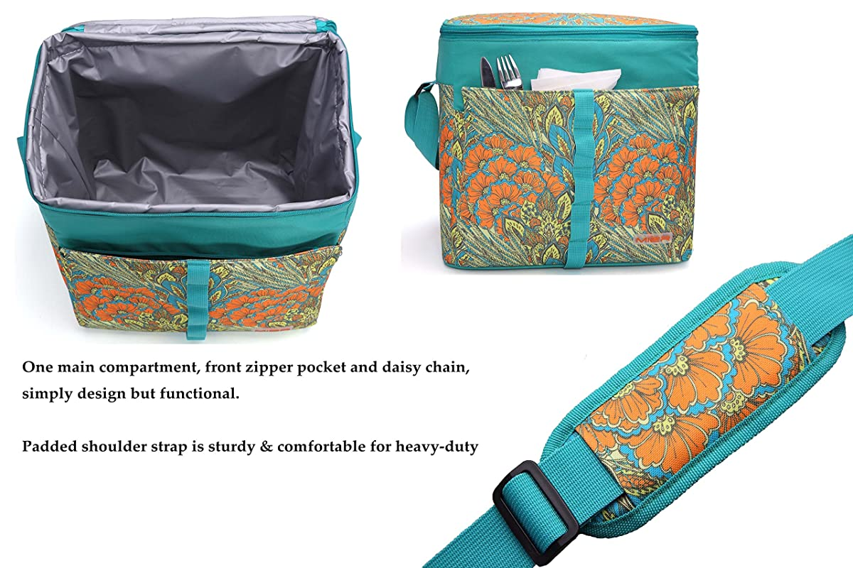 MIER 30L Extra Large Cooler Bag Outdoor Insulated Picnic Bag for Camping, Sports, Beach, Travel, Fishing