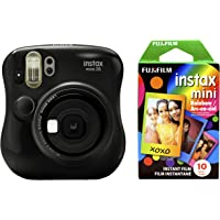 Fujfilm Instax Mini 26 + Rainbow Film Bundle (Black)