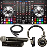 Pioneer DDJ-SX2 Serato DJ Controller with Shure BLX Wireless Microphone & SRH550DJ Headphones