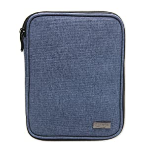 Luxja Knitting Needles Case(up to 8 Inches), Travel Organizer Storage Bag for Circular Needles, 8 Inches Knitting Needles and Other Accessories(NO Accessories Included), Dark Blue (Color: Dark Blue, Tamaño: 8.5L x 6.5W)