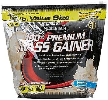 Muscletech 100% Premium Mass Gainer - Vanilla, 1er Pack (1 x 5.44 kg)