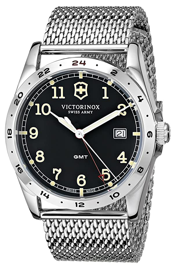 Victorinox Unisex 241649 Infantry Stainless Steel Watch with Mesh Bracelet (Color: Infantry GMT)
